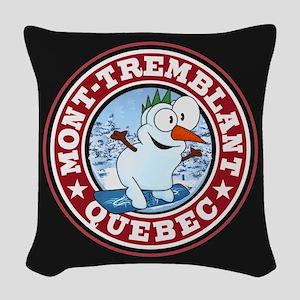 Mont Tremblant Snowman Circle Woven Throw Pill