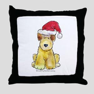 Doodle Santa Hat Throw Pillow