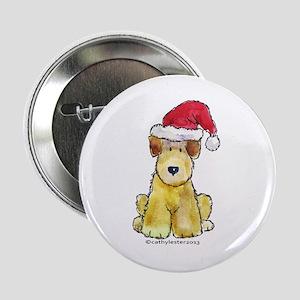 """Doodle Santa Hat 2.25"""" Button"""