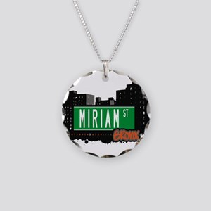 Miriam St Necklace Circle Charm