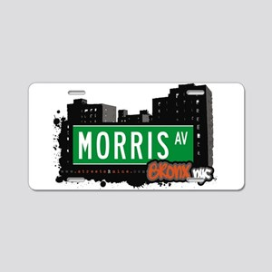 Morris Ave Aluminum License Plate