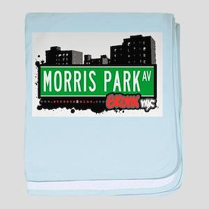 Morris Park Ave baby blanket