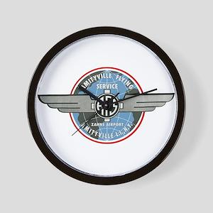 Amityville Flying Service Wall Clock
