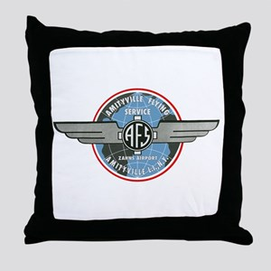 Amityville Flying Service Throw Pillow
