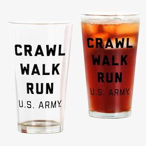 U.S. Army Crawl Walk Run Drinking Glass