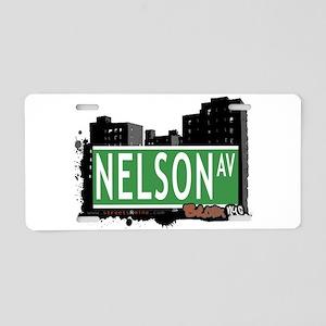 Nelson Ave Aluminum License Plate