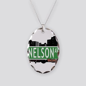 Nelson Ave Necklace Oval Charm