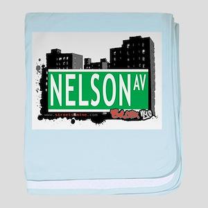 Nelson Ave baby blanket