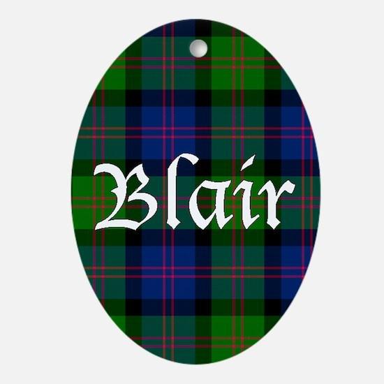 Tartan - Blair Ornament (Oval)