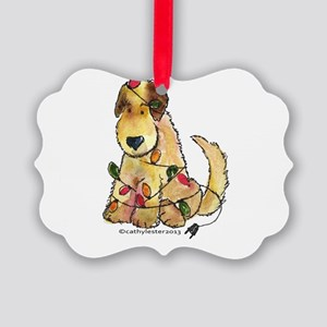 Doodle Holiday Lights Picture Ornament