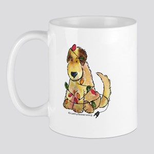 Doodle Holiday Lights Mug