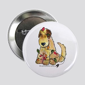 """Doodle Holiday Lights 2.25"""" Button"""