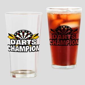 Darts Champion Drinking Glass