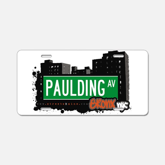 Paulding Ave Aluminum License Plate
