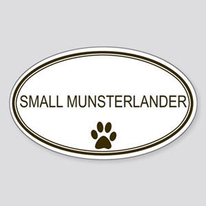 Oval Small Munsterlander Oval Sticker