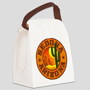 Sedona Desert Circle Canvas Lunch Bag