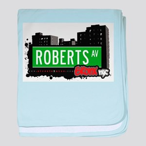 Roberts Ave baby blanket