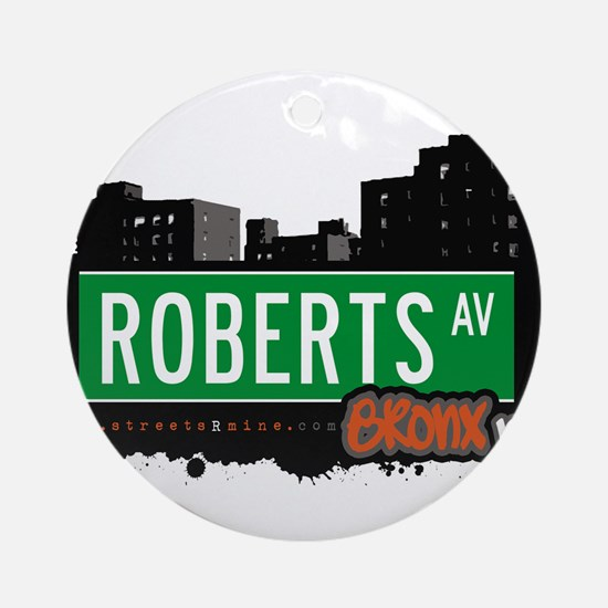 Roberts Ave Ornament (Round)