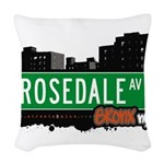 Rosedale Ave Woven Throw Pillow