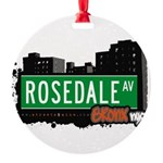 Rosedale Ave Round Ornament
