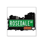 Rosedale Ave Square Sticker 3