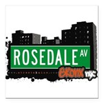 Rosedale Ave Square Car Magnet 3