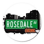 Rosedale Ave Round Car Magnet