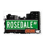 Rosedale Ave Rectangle Car Magnet