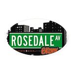 Rosedale Ave Oval Car Magnet