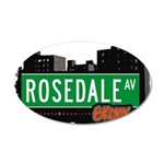 Rosedale Ave 20x12 Oval Wall Decal