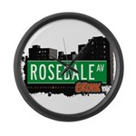 Rosedale Ave Large Wall Clock
