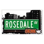 Rosedale Ave Sticker (Rectangle 50 pk)