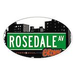 Rosedale Ave Sticker (Oval 50 pk)