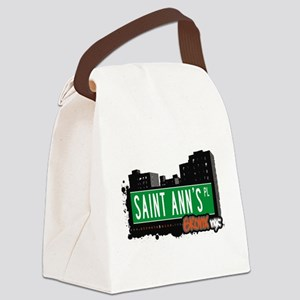 Saint Anns Pl Canvas Lunch Bag