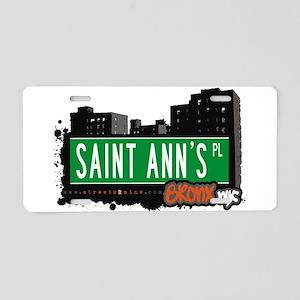 Saint Anns Pl Aluminum License Plate