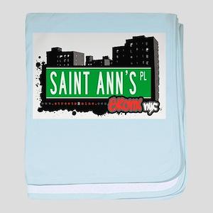 Saint Anns Pl baby blanket