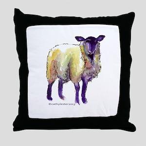 Black Face Sheep Throw Pillow