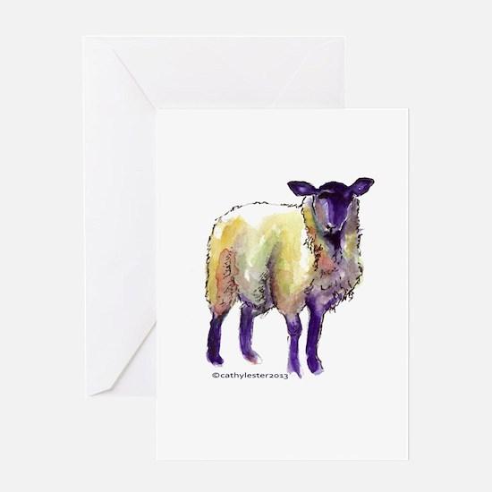 Black Face Sheep Greeting Card