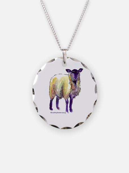 Black Face Sheep Necklace