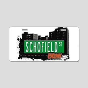 Schofield St Aluminum License Plate
