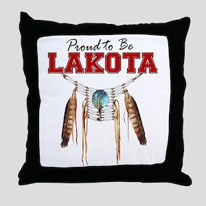 Proud to be Lakota Throw Pillow