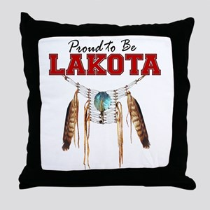 Proud to be Lakota Throw Pillow