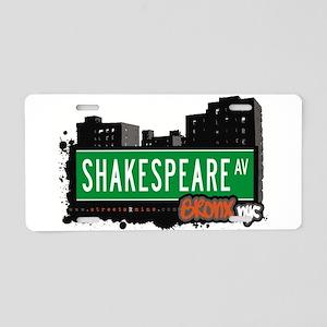 Shakespeare Ave Aluminum License Plate