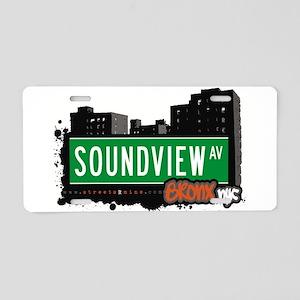 Soundview Ave Aluminum License Plate