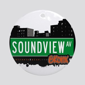 Soundview Ave Ornament (Round)