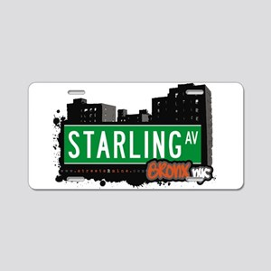Starling Ave Aluminum License Plate