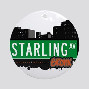Starling Ave Ornament (Round)