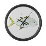 Crevalle Jack f Large Wall Clock