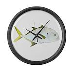 Crevalle Jack f Large Wall Clock