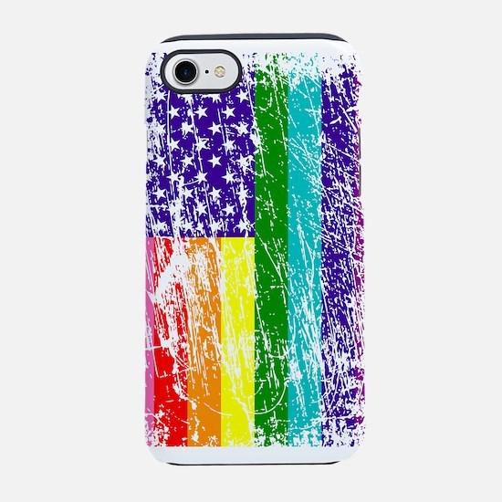 Pride American Flag iPhone 7 Tough Case